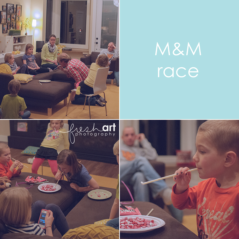 m and m race