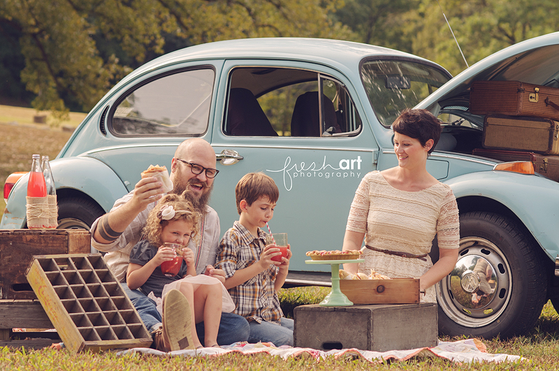 Stylized Family Session with Finch Vintage Rental   St. Louis Family Photography