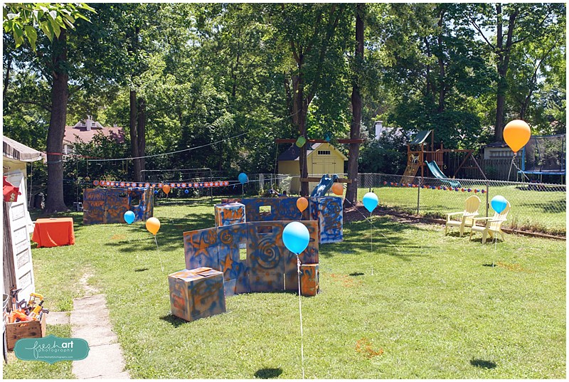 Soldier Nerf Gun Birthday Party ideas for the kid that loves soldiers, nerf  guns,