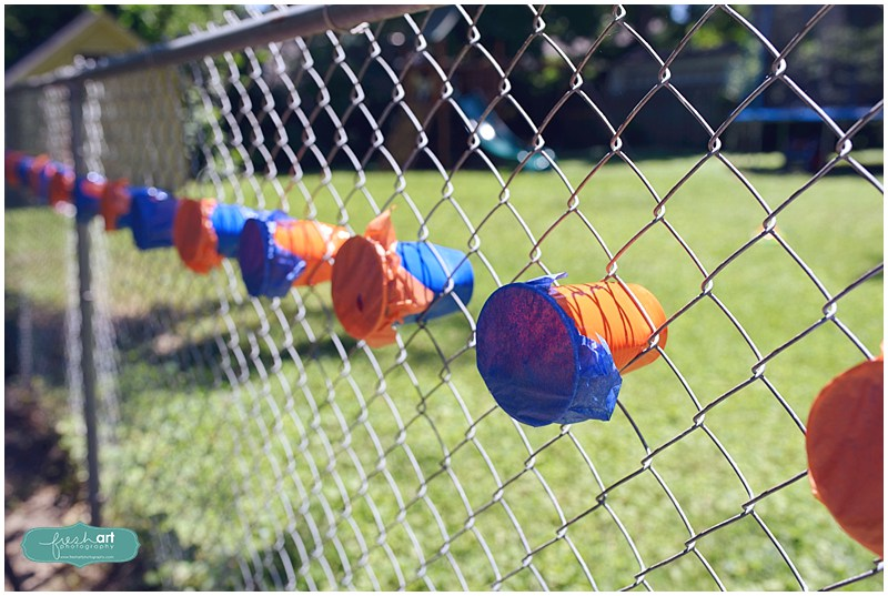 nerf gun birthday party solo cup candy targets