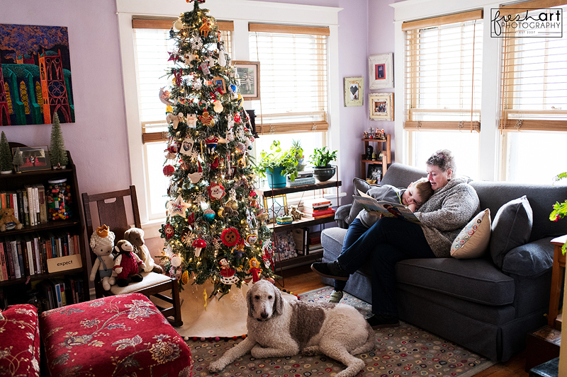 Donna and Sam at Christmastime | St. Louis Family Photographer