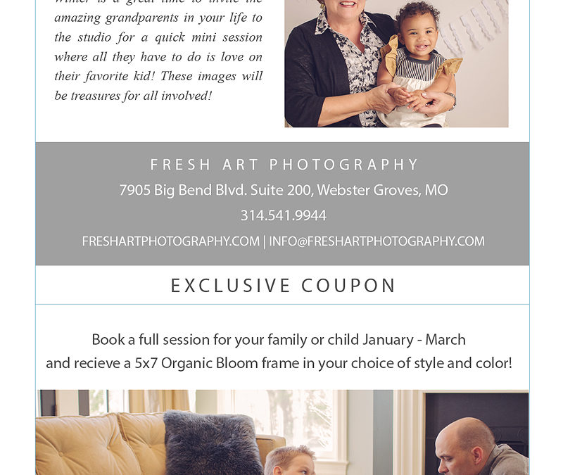 Winter Newsletter | St. Louis Family Photography | St. Louis Newborn Photography